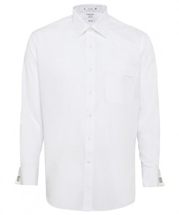 Van Heusen Mens Classic Fit Long Sleeve Polyester Cotton Easy Care Poplin