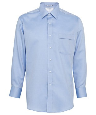 Van Heusen Mens Classic Fit Cotton/Poly Nail Head Shirt - Blue