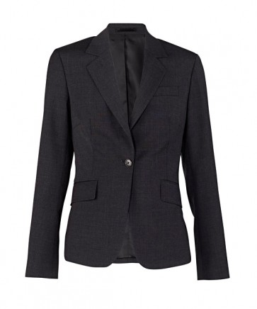 Van Heusen Womens Stretch Wool Blend Plain Weave Jacket - Black