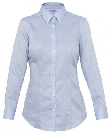 Van Heusen Womens Classic Fit Long Sleeve Cotton Polyester Nail Head Shirt