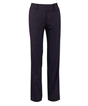 Van Heusen Womens Stretch Wool Blend Plain Weave Trouser - Black