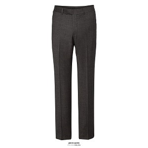 Van Heusen Mens Slim Fit Flat Front Trouser - Charcoal Front