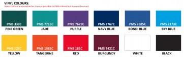 Vinyl Bunting Standard PMS Colours