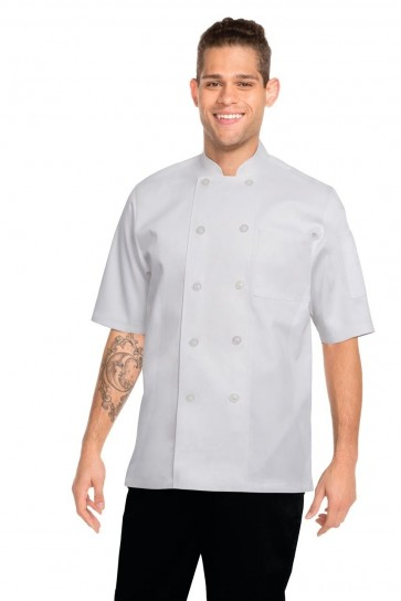 Chef Works Volnay White Chef Jacket - Front