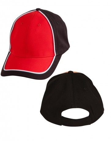 Winning Spirit Arena Two Tone Cap - Black White Red