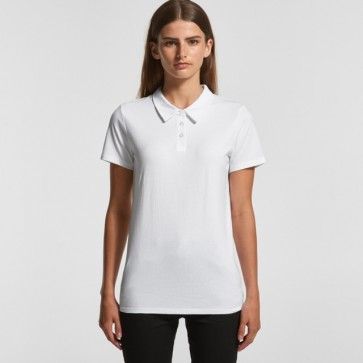 AS Colour WO's Amy Polo - White Model Front