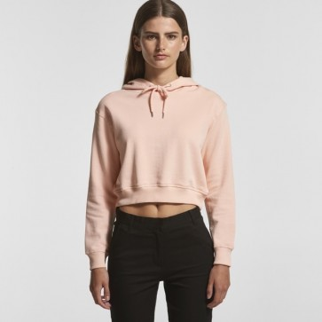 AS Colour WO's Crop Top Hood - Pale Pink Model Front