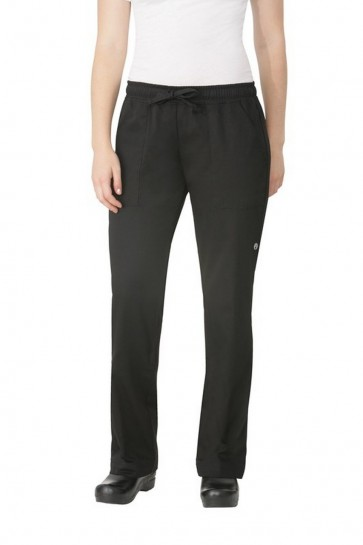 Chef Works Women's Black Chef Pants