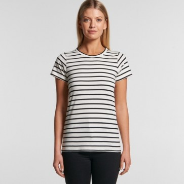 AS Colour Women's Thread Tee - Natural Black Front