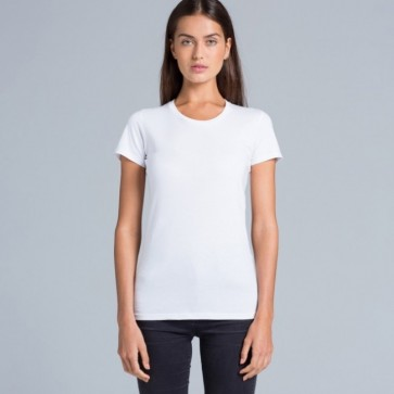AS Colour Women's Wafer Tee - White Model Front