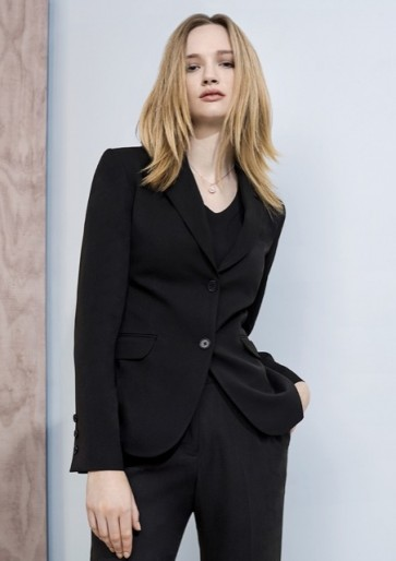 Biz Corporates Women's 2 Button Mid Length Jacket - Model
