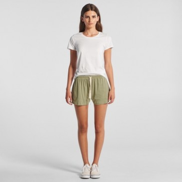 AS Colour Women's Jersey Shorts - Avocado Model Front
