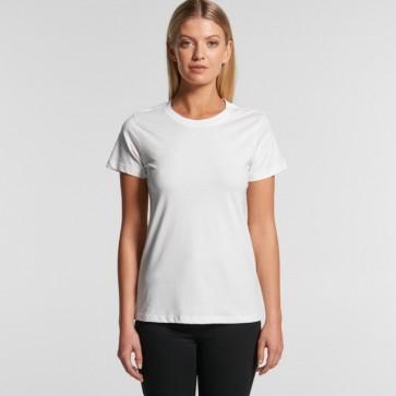 AS Colour Women's Organic Maple Tee - White Model Front