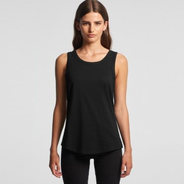 AS Colour Women's Sunday Singlet - Black Model Front
