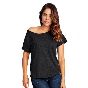 Next Level Women's Tri-Blend Dolman - Vintage Black Model