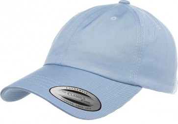Yupoong Low Profile Cotton Twill Dad Hat - Light Blue Front