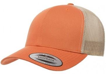Yupoong Classic Retro Trucker - Rust Orange Khaki Front