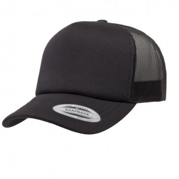Yupoong Foam Front Cap - Black Front