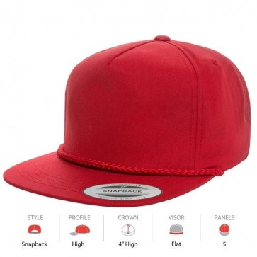 Yupoong Poplin Golf - Red Cap Key