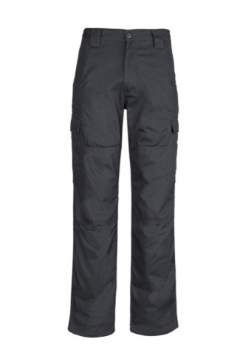 ZW001 Mens Drill Cargo Pant Charcoal Front