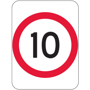 10KM Speed Sign