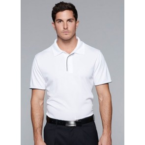 Aussie Pacific Mens Yarra Polo - White Navy Model