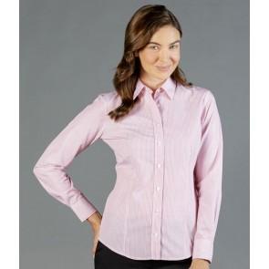 Gloweave Womens Dobby Stripe Long Sleeve Shirt