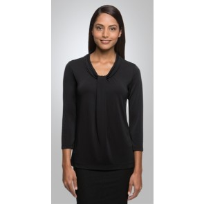 City Collection Women's Pippa Knit 3/4 Sleeve Top