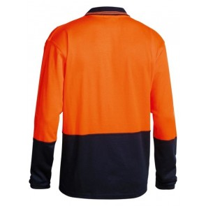 Bisley 2 Tone Hi Vis Polo Shirt Long Sleeve