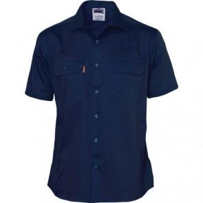 DNC Cotton Drill Work Shirt - Short Sleeve
