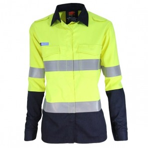 DNC Ladies Inherent FR PPE2 2 Tone Day Night Long Sleeve Shirt