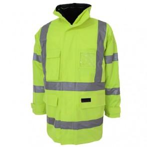 DNC Hi Vis 6 in 1 Breathable Rain Jacket Biomotion