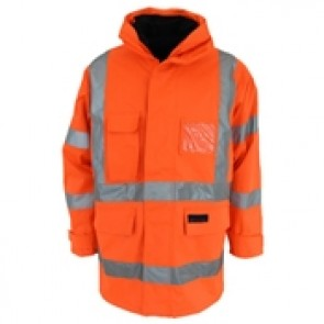 DNC Hi Vis 6 in 1 Breathable Rain Jacket Biomotion