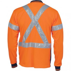 DNC Hi Vis Cool-Breathe Polo Shirt With Cross Back R/Tape