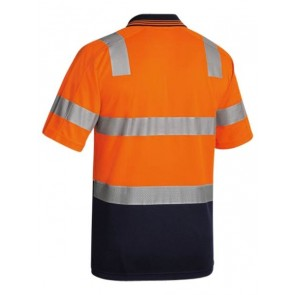 Bisley 3M Taped Hi Vis Two Tone Micromesh Polo Shirt Short Sleeve