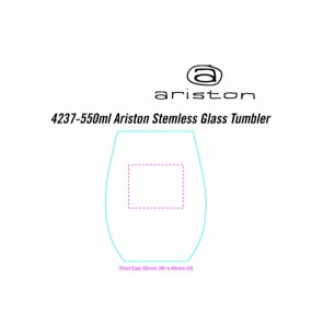 Ariston Stemless Tumbler Mock Etch