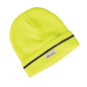 JBs wear Fluro Reflective Beanie - Lime