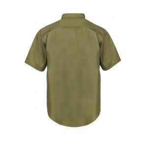 Work Craft Men's Short Sleeve Cotton Drill Shirt