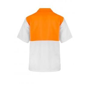 Work Craft Food Industry Hi Vis Two Tone Jac Shirt- Short Sleeve