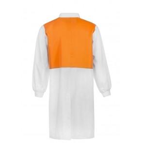 Work Craft Food Industry Hi Vis Two Tone Long Length Dustcoat with Mandarin Collar Long Sleeve