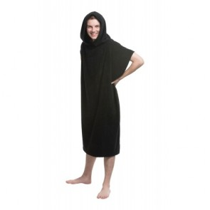 Adult Beach Poncho - Model Hood On