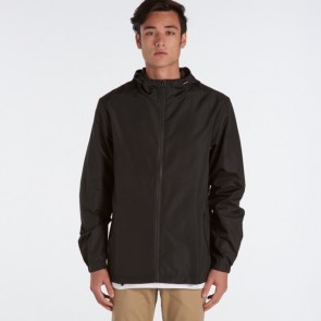 AS Colour Men's Section Zip Jacket  - Black Model Front