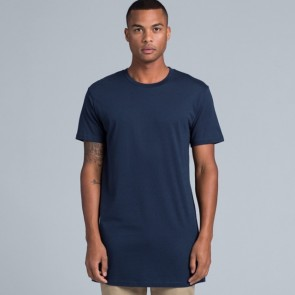 AS Colour Mens Tall Tee - Navy Model Front