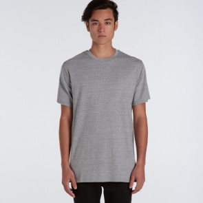AS Colour Mens Plus Tee - Grey Marle Model