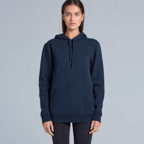 AS Colour Men's Stencil Hood - Navy Women Model Front