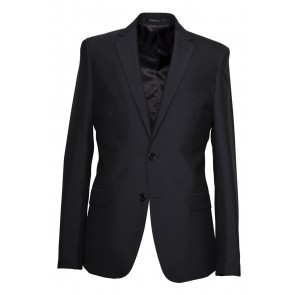 Aston Colton Men's 100% Pure Wool Suit Jacket Black