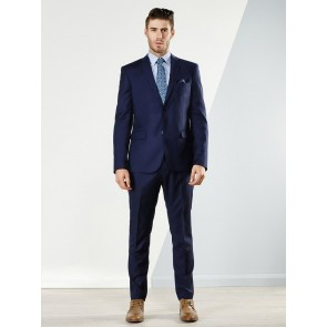 Aston Colton Men's Pure Wool Suit Jacket Royal Blue