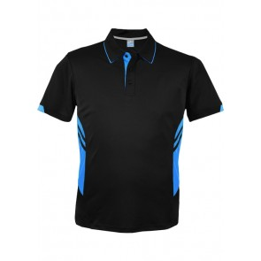 Aussie Pacific Men's Tasman Polo - Black Ash Front