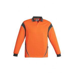Aztec - Hi Vis Mens Long Sleeve Polo (Button Free) 175gsm