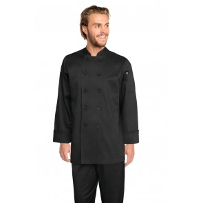 Chef Works Bastille Black Basic Chef Jacket - Front